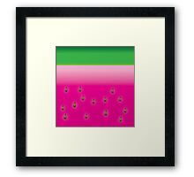 Watermelon fruity Framed Print
