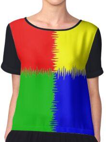 QUARTERS (Red, Blue, Green & Yellow)-(9000 x 9000 px) Chiffon Top