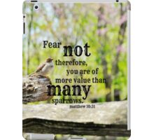 Fear Not Matthew 10 iPad Case/Skin