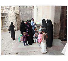 Muslim Women at Golconda Fort Poster