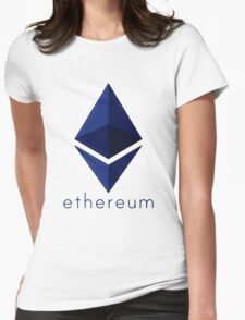 Ethereum Blue  Womens Fitted T-Shirt