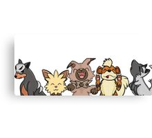 Pokemon Pups Canvas Print