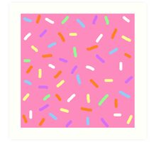 Strawberry Sprinkles Art Print