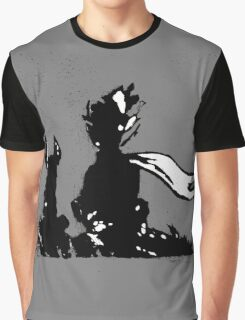 The LITTLE PRINCE and the FOX - stencil grey version Graphic T-Shirt