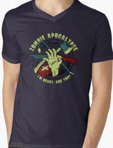 Zombie Apocalypse - I'm ready. Are you? Mens V-Neck T-Shirt
