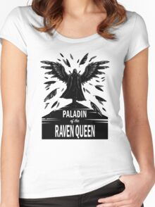 Paladin of the Raven Queen - B&W Variant Women's Fitted Scoop T-Shirt