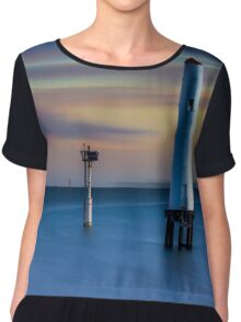Beacon Cove Lighthouse Chiffon Top