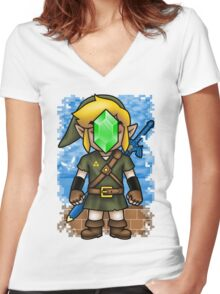 Son of Hyrule Women's Fitted V-Neck T-Shirt