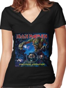 IRON MAIDEN FINAL FRONTIER Women's Fitted V-Neck T-Shirt