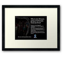 Schizophrenia awareness Framed Print
