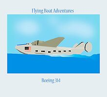 Flying Boat Boeing B 314 by Timothyoleary