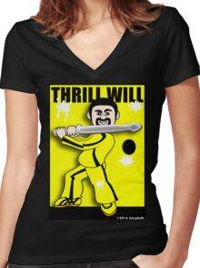 Thrill Will Women's Fitted V-Neck T-Shirt