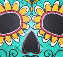 Mexican Skull Sugar Red Moustache Sticker