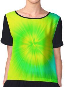 TIE DYE (Yellows, Greens, Turquoise)-(8400 x 8400 px) Chiffon Top