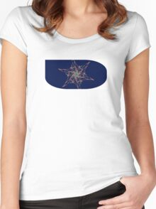 Abstract flower star Women's Fitted Scoop T-Shirt