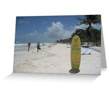 Beach Bar, Tulum, Mexico Greeting Card
