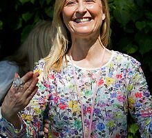 Fiona Phillips at RHS Chelsea Flower Show by Keith Larby