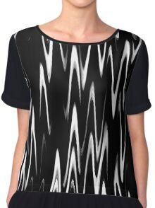 WAVY-1 (Black & White)-(9000 x 9000 px) Chiffon Top