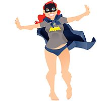 Look at me... I'm Batman! Photographic Print
