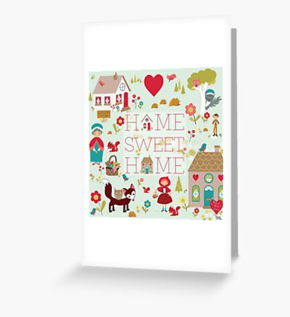 Little Red print Greeting Card