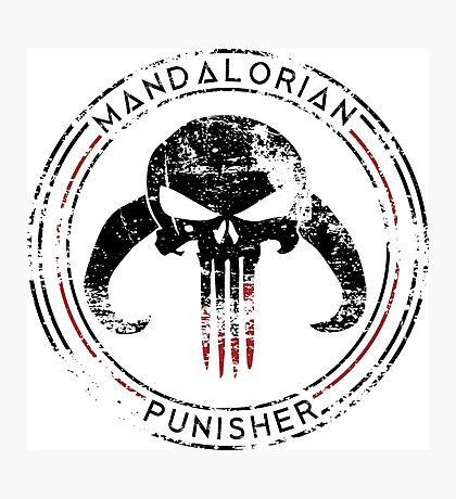 Mandalorian Punisher Photographic Print
