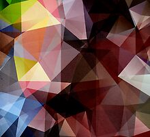 Colorful Textured Triangles by Phil Perkins