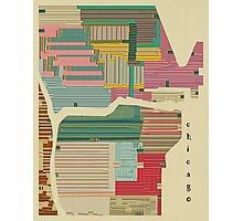 chicago city map Photographic Print