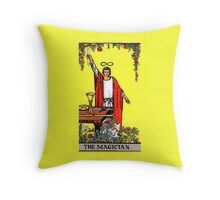 The Magician Tarot Card  Throw Pillow