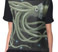 Giant Squid Chiffon Top