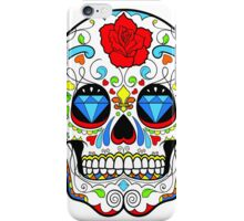 Mexican Skull Sugar Red Rose iPhone Case/Skin