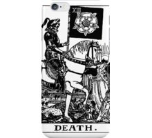 Black and White Death Tarot Card  iPhone Case/Skin