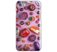 Red food on pink iPhone Case/Skin