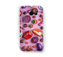 Red food on pink Samsung Galaxy Case/Skin