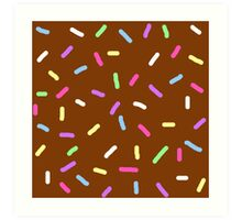 Chocolate Sprinkles Art Print