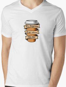 Take Coffee Mens V-Neck T-Shirt