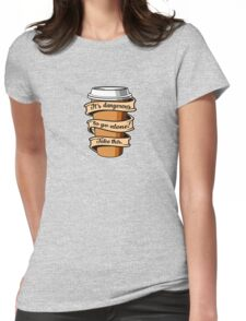 Take Coffee Womens Fitted T-Shirt