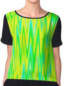 WAVY-1 (Greens, Yellow & Light Blues)-(9000 x 9000 px) Chiffon Top
