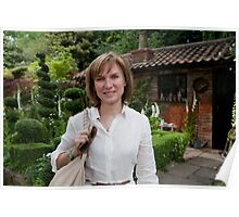 Fiona Bruce at RHS Chelsea Flower Show Poster