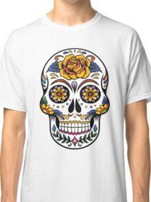 Mexican Sugar Skull Yellow Rose Classic T-Shirt