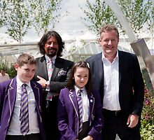 Laurence Llewelyn-Bowen & piers Morgan at RHS Chelsea Flower Show by Keith Larby