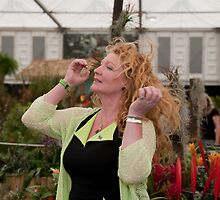 Charlie Dimmock at RHS Chelsea Flower Show by Keith Larby