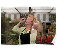 Charlie Dimmock at RHS Chelsea Flower Show Poster