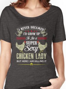 Chicken Lady T-shirt -  Women's Relaxed Fit T-Shirt