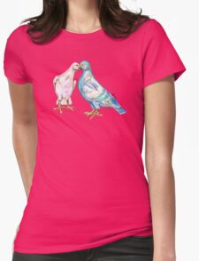 Love Birds Pattern Womens Fitted T-Shirt