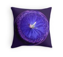 Fantasy Galls Orb in Blue Throw Pillow