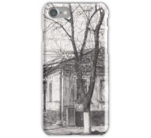 Hand drawn old architecture iPhone Case/Skin
