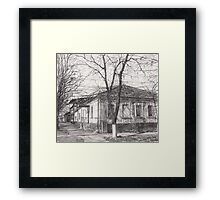 Hand drawn old architecture Framed Print