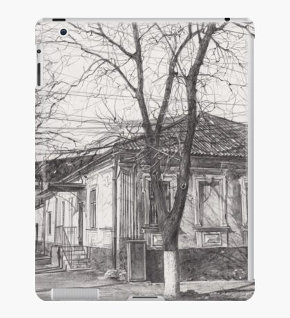 Hand drawn old architecture iPad Case/Skin