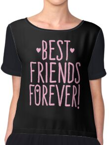 BEST FRIENDS FOREVER in pink Chiffon Top
