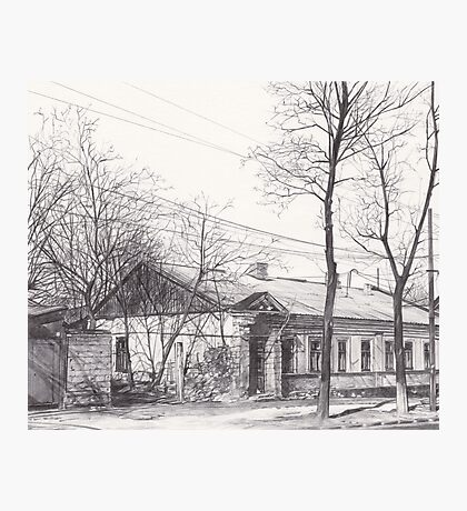 Hand drawn historical architecture Photographic Print